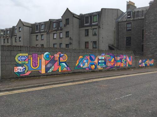 Murals by Supermundane | Rob Lowe seen at AB25 1EU, Aberdeen - Super Aberdeen