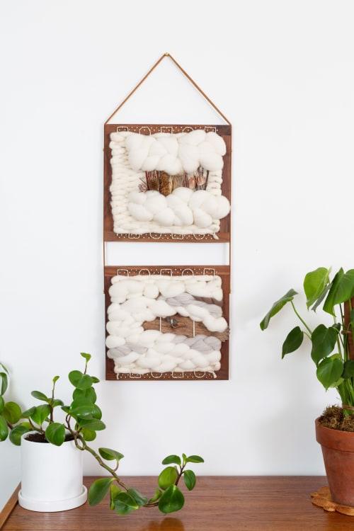 Wall Hangings by Keyaiira | leather + fiber seen at Private Residence, Petaluma - PENELOPE