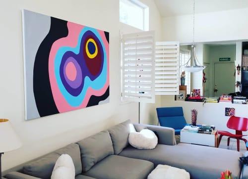 "Paintings by Jerry Misko seen at Private Residence, Las Vegas - ""Shedu"""