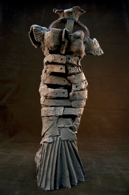 'That Black Dress'   Sculptures by Corinna Button   Gallery C in Dubuque