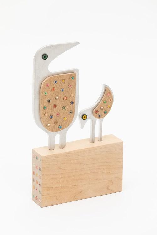 Sculptures by Hilary Pfeifer seen at Portland, Portland - Animalia Series  (aluminum+wood)
