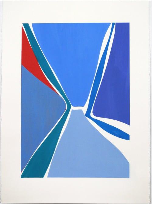 Multi_x_1, Multi_x_2   Paintings by Joanne Freeman   Blue Print Gallery in Dallas