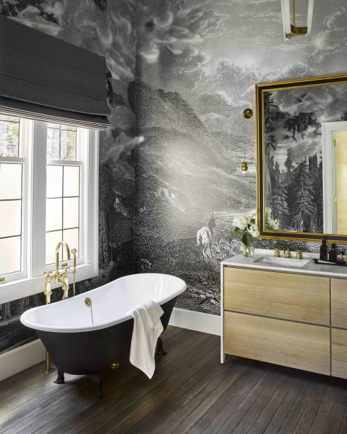 Murals by Yedda Morrison Studio seen at Private Residence, San Francisco - Image of the Image, Yosemite