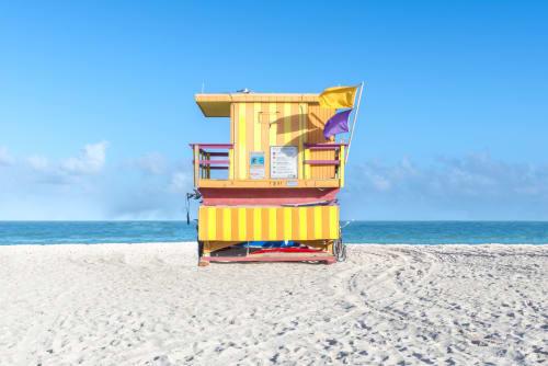 Photography by Richard Silver Photo seen at Creator's Studio, Boynton Beach - 3rd Street-Miami Lifeguard Chair