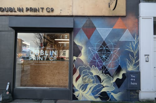 Murals by Buse Kanlikilic Art seen at Dublin Print Co, Dublin 2 - 'You Are Here' - Grey Area Project