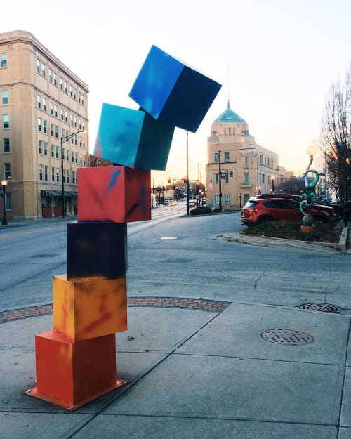 Public Sculptures by FireShapes Studio seen at Pour Bros. Craft Taproom, Champaign - Tip-See