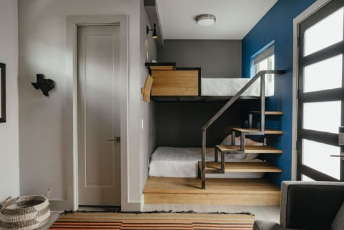 Beds & Accessories by Ankor Studios seen at Private Residence - Austin TX, Austin - Custom Built-in Bunk Bed