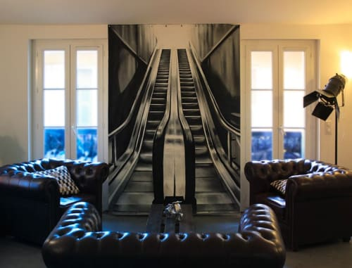 Murals by WANJAH seen at Private Residence, Nice - Realistic Spray paint (2012)