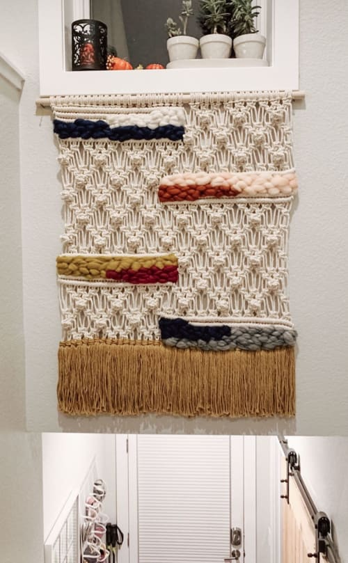 Macrame Wall Hanging by Danielle Vail Fiber Art & Design seen at Private Residence, Boulder - Popcorn