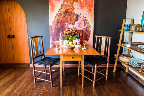 Chairs by Brawley Made seen at Private Residence | Los Angeles, CA, Los Angeles - Hancock Table and Salisbury Chairs