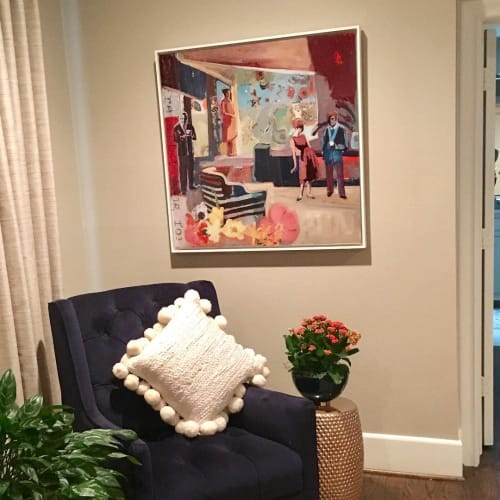 """Paintings by Marjolyn van der Hart seen at Private Residence, Fort Worth - """"Longing for Her"""""""