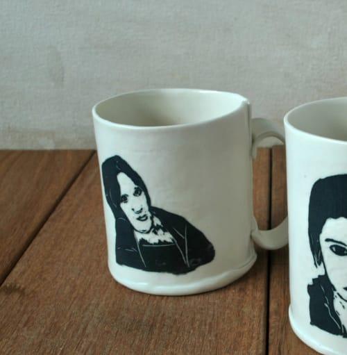 Portrait Porcelain Coffee Mug   Cups by ShellyClayspot