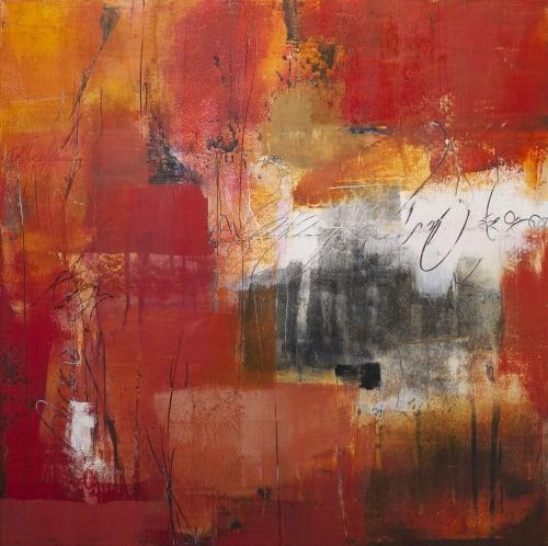 Paintings by Pamela K Beer Contemporary Fine Art seen at Creator's Studio, Sammamish - Love Letter Script