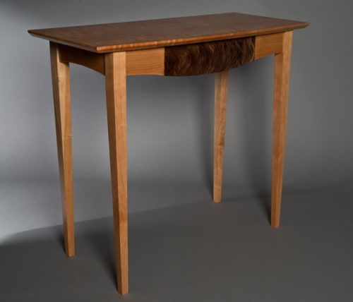 Tables by David Kellum Furniture seen at Private Residence, Anacortes - Cherry console table
