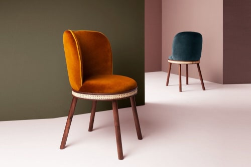 Chairs by Marie Burgos Design and Collection seen at Creator's Studio, New York - Alma Dining Chair