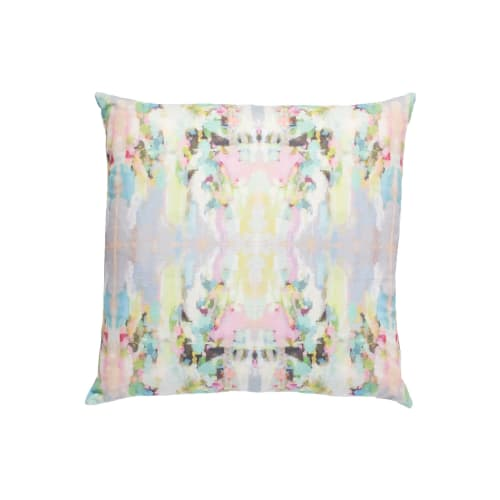 Pillows by Laura Park Designs seen at Private Residence, Wilmington - Lemonade Stand Linen Pillow