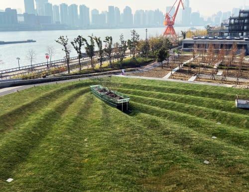 Public Sculptures by Oscar Oiwa seen at Shanghai, Shanghai - Time Shipper