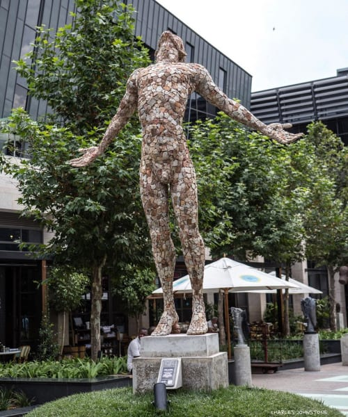 Public Sculptures by Anton Smit seen at Menlyn Maine Central Square, Pretoria - Faith