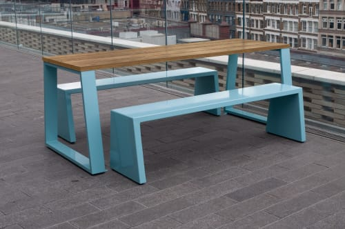 Tables by Jennifer Newman seen at Publicis Sapient, London - Block Tables and Benches