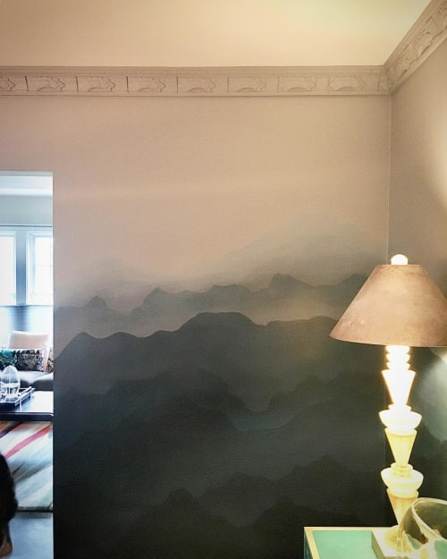 Wall Treatments by Caroline Lizarraga seen at Private Residence, San Francisco - Magic Mountain Ombre Wall