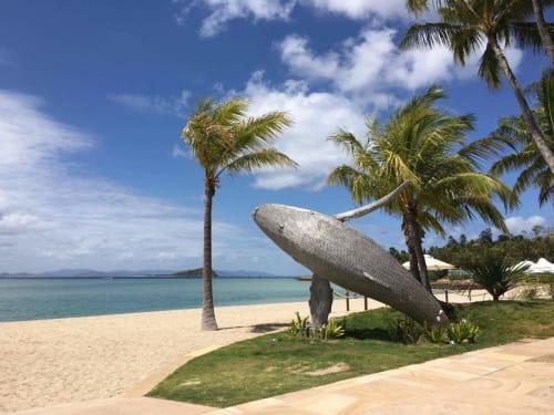 Sculptures by Mike Van Dam Art seen at Hayman Island, Whitsundays - Breaching Whale