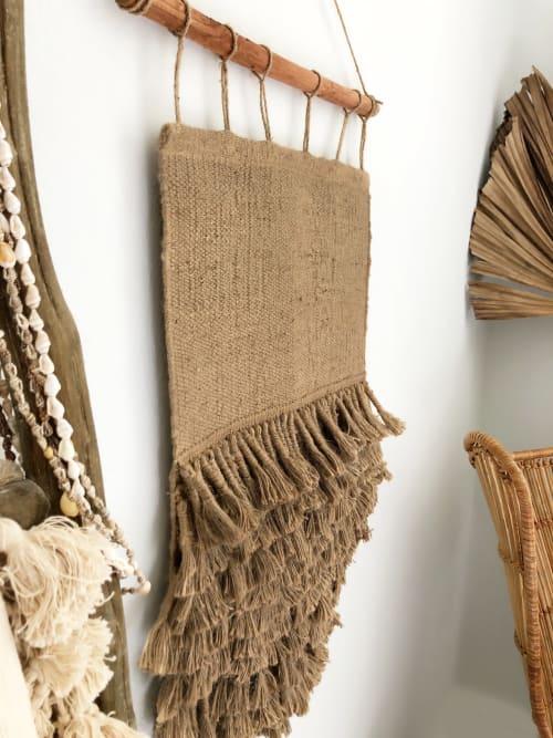 Wall Hangings by Coastal Boho Studio seen at Creator's Studio, Destin - Galia Handwoven Wall Hanging - Jute