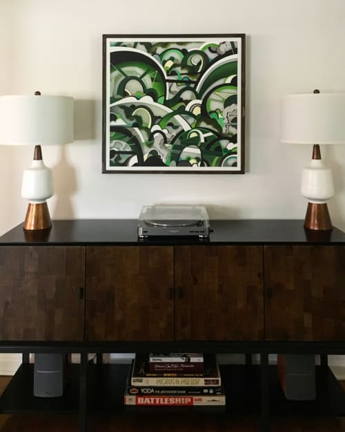 "Paintings by Phil Harris seen at Private Residence, Atlanta - Untitled, 33""x33"""