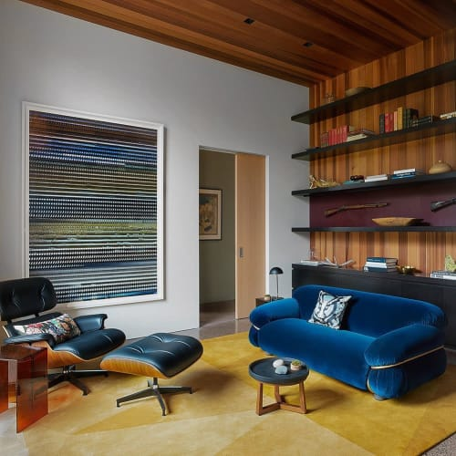Rugs by Lucy Tupu Studio seen at Private Residence, Wilson - Wyoming-Library