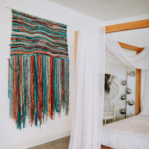 Macrame Wall Hanging by TexturizeYourEyes by Amber Kokenge seen at Private Residence, Dallas - Custom Macrame