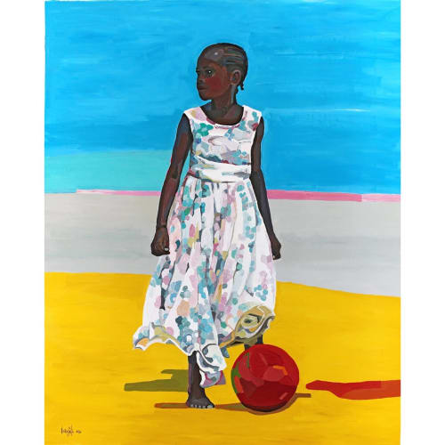 Paintings by Noemi Safir Artist seen at Private Residence - How fun it is to play outside