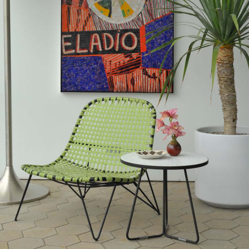 Tables by Potted seen at Los Angeles, Los Angeles - Midge Tiled table in priviate residence.