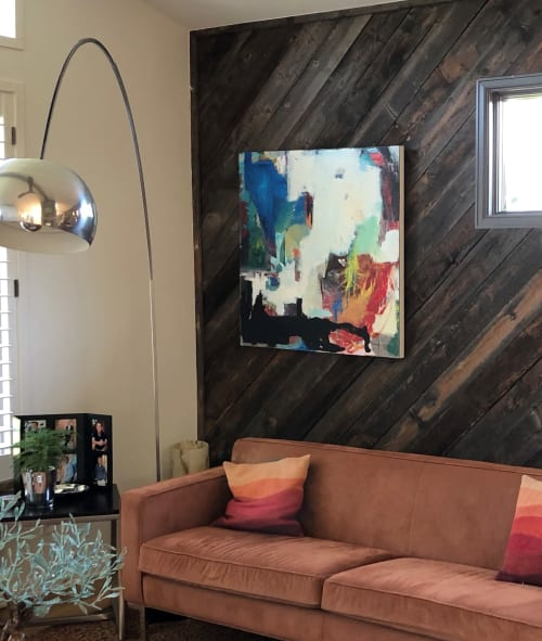 "Paintings by Kristina Davies seen at Private Residence, Bow Mar - ""Transcendence"" Mixed Media on Canvas"