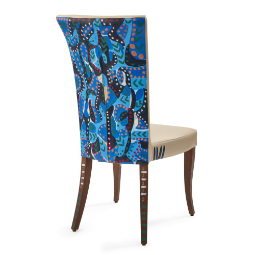 Interior Design by JAN ERIKA DESIGN seen at Private Residence, London - Cherry Congo Handpainted chairs