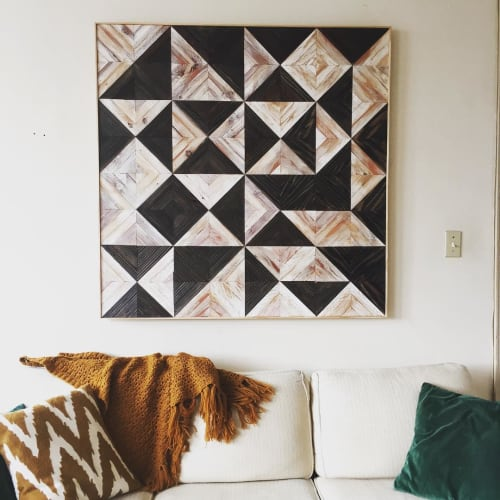 Wall Hangings by Nicole Sweeney seen at Private Residence, San Francisco - Geometric Quilt