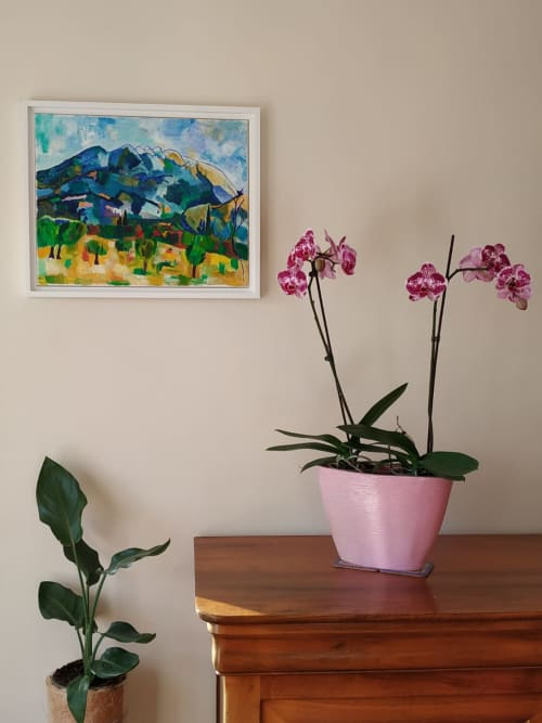 Paintings by Maria-Victoria Checa Art seen at Private Residence, Aix-en-Provence - Douce Provence