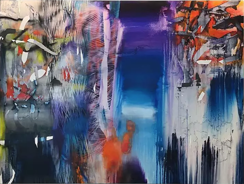 Paintings by Chris Trueman seen at 181 Fremont Residences, San Francisco - Contemporary Painting