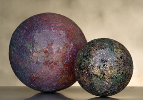 Sculptures by Ellen Blakeley Studio seen at Private Residence, Santa Rosa - Mosaic Globes