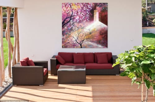 Paintings by Leda Daniel Art Studio seen at Private Residence, Auckland - Resilience