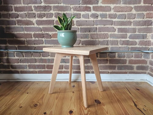 Furniture by Max Moody Design seen at Private Residence, Atlanta - Jack Stool | Jack Plant Stand - Mid Century Modern Plant stand in Oak