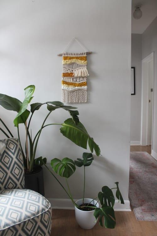 Macrame Wall Hanging by Taylor Salisbury (Urban Jungle Design) seen at Private Residence, Toronto - 'Mustard' Macrame Woven Wall Hanging