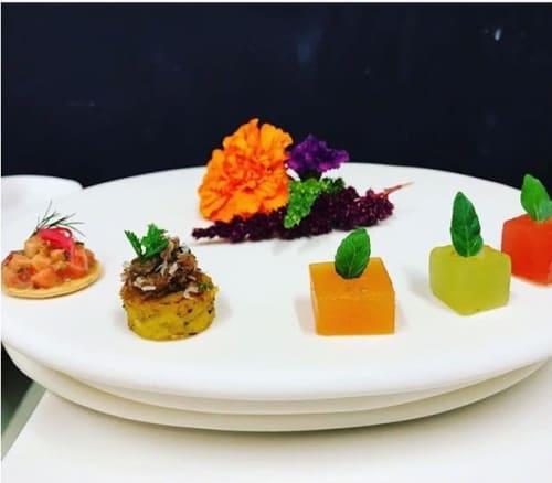 Ceramic Plates by Tina Frey seen at Four Seasons Resort Palm Beach, Palm Beach - Serving Plates