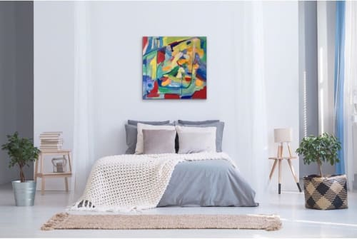Paintings by Maria-Victoria Checa Art seen at Bethesda, Bethesda - Maison de mes Rêves - House of My Dreams