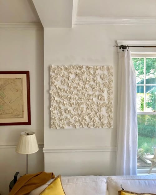 Art & Wall Decor by Anna Kasabian Porcelain seen at Private Residence, Manchester-by-the-Sea - Porcelain flower installation