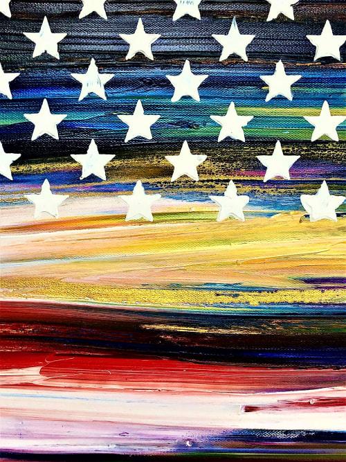Paintings by Dutch Montana Art seen at Creator's Studio, Newport Beach - Freedom #3