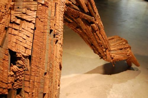 Sculptures by Andrew Ramiro Tirado seen at Coburn Gallery at Colorado College, Colorado Springs - Root