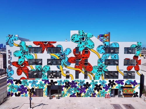 Street Murals by Cooper seen at 1700 S Santa Fe Ave, Los Angeles - Flower Fields