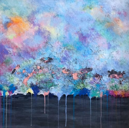 """Paintings by Benna Holden seen at Private Residence - Ridgefield, NJ, Ridgefield - """"Ebb and Flow Painting"""""""