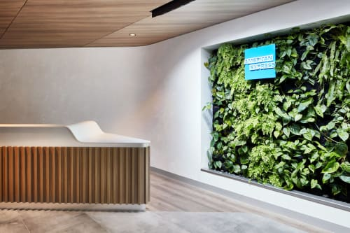Interior Design by IA Design seen at Sydney Airport, Sydney - American Express Lounge