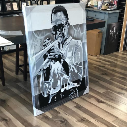 Paintings by Trent Thompson seen at Private Residence, Oakland - Miles Davis