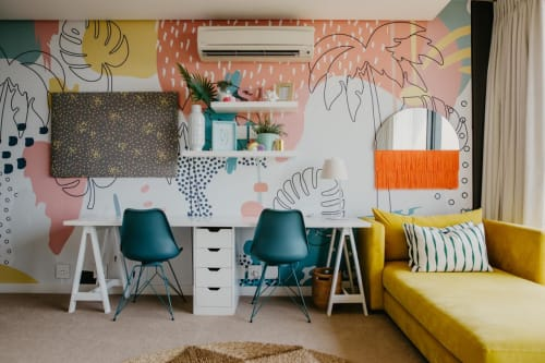 Murals by Munks and Me seen at Private Residence, Umhlanga - Tropical Wall Mural